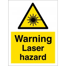 Warning Laser Hazard Signs