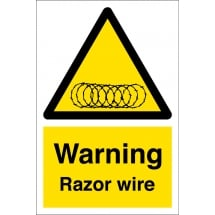 Warning Razor Wire Signs