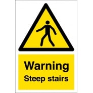 Warning Steep Stairs