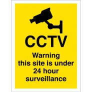 Warning This Site Is Under 24 Hour Surveillance Signs