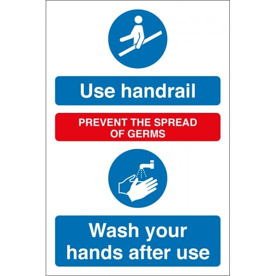 Wash Your Hands After Using Handrail Signs