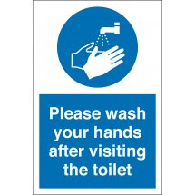 Wash Your Hands After Visiting Toilet Signs