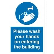 Wash Your Hands On Entering The Building Signs