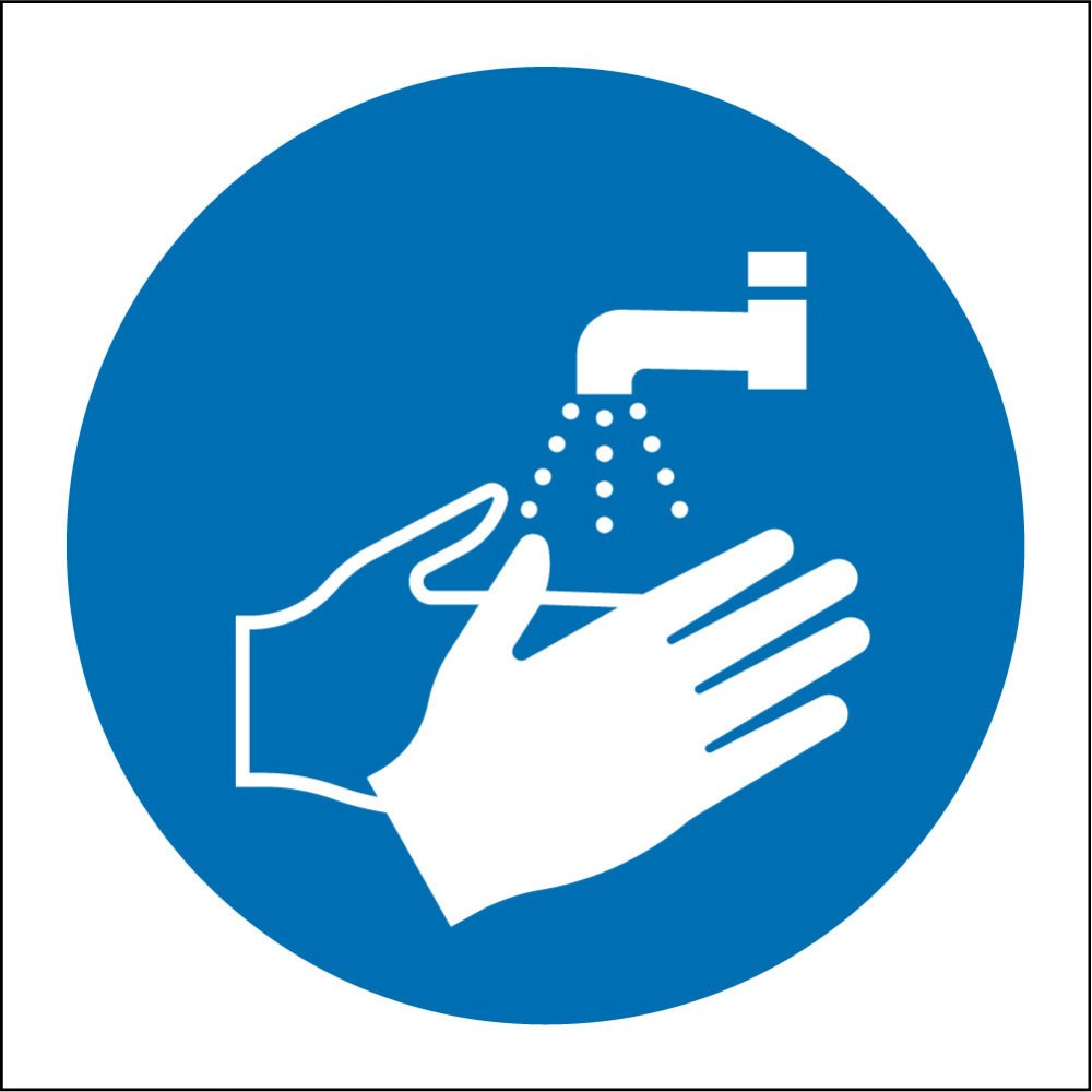 Newly Weds Foods Logo: Wash Your Hands Signs