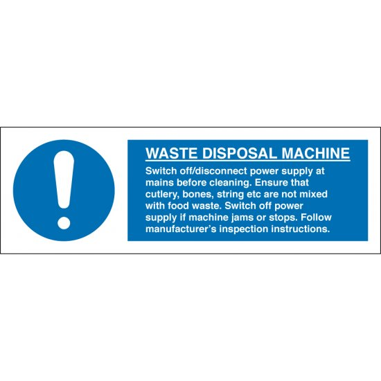 Waste Disposal Machine Signs