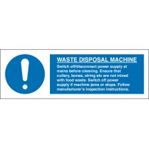 Waste Disposal Machine Signs