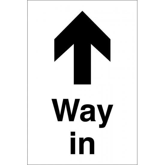 Way In Arrow Up Signs