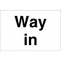 Way In Signs