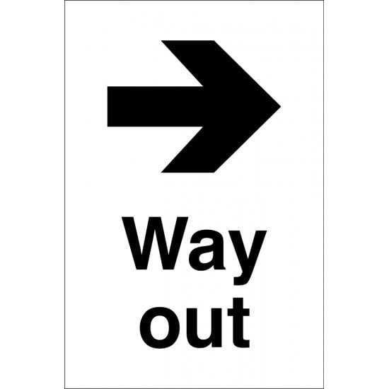 Way Out Arrow Right Signs