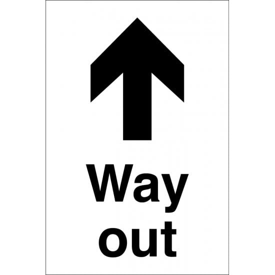Way Out Arrow Up Signs