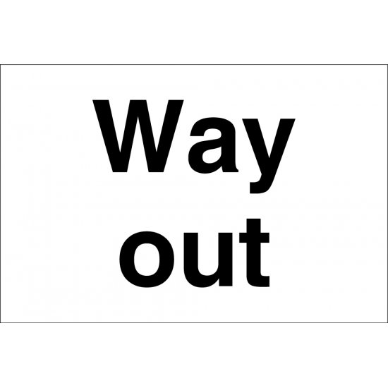 Way Out Signs