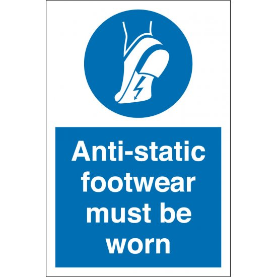 Wear Anti Static Footwear Signs
