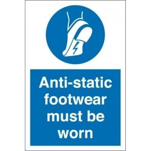 Wear Anti Static Footwear Signs