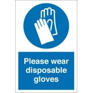 Wear Disposable Gloves Signs