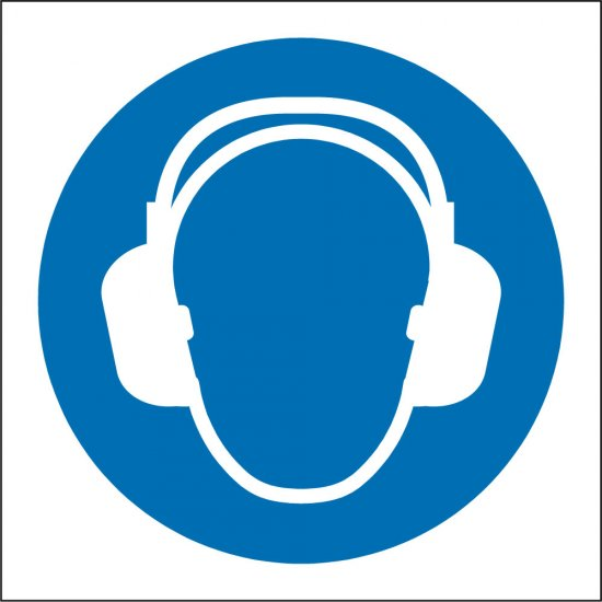 Wear Ear Protection Safety Signs