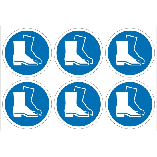 Wear Foot Protection Labels