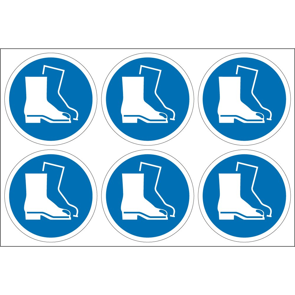 wear foot protection labels from key signs uk
