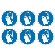 Wear Hand Protection Labels