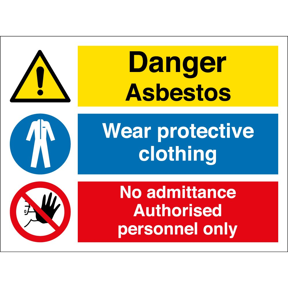 wear protective clothing asbestos signs from key signs uk. Black Bedroom Furniture Sets. Home Design Ideas