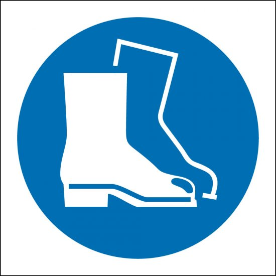 Wear Safety Boots Signs