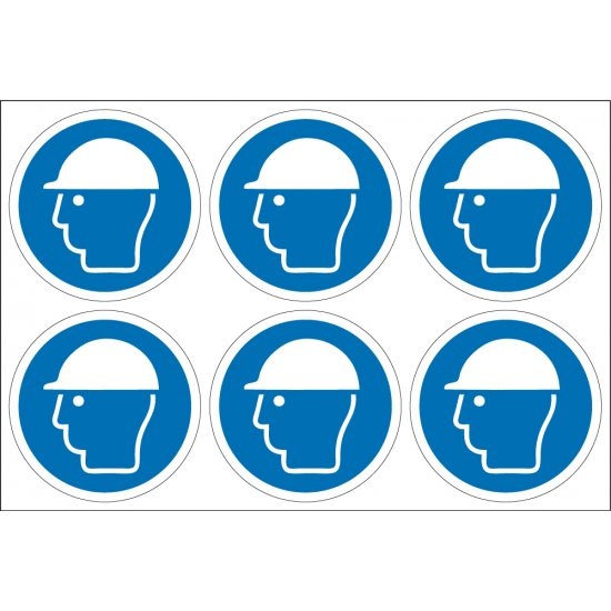 Wear Safety Helmet Labels