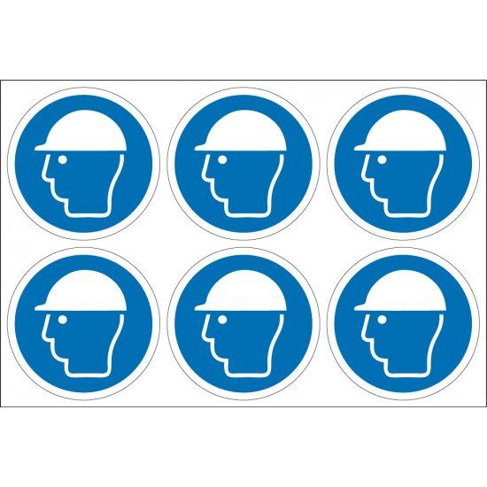 Wear Safety Helmet Labels