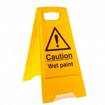 Wet Paint Floor Stands