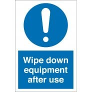 Wipe Down Equipment After Use Signs