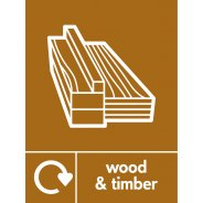 Wood and Timber Waste Recycling Signs
