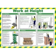 Work At Height Posters 590mm x 420mm