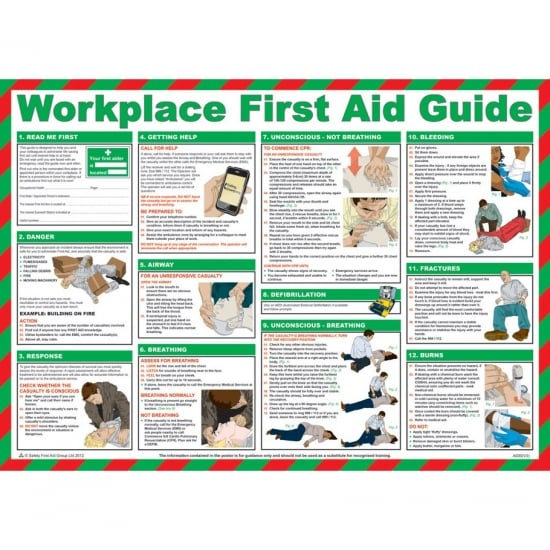Workplace First Aid Posters 590mm x 420mm