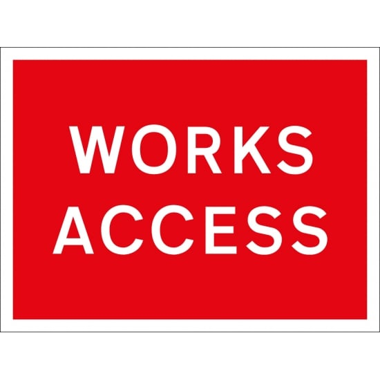 Works Access Signs