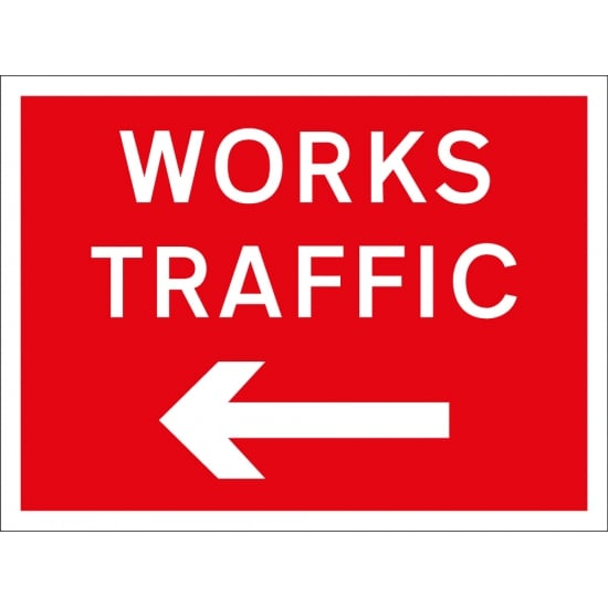 Works Traffic Arrow Left Signs