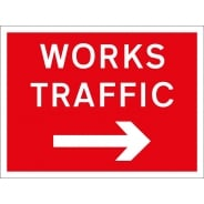 Works Traffic Arrow Right Signs