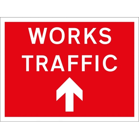 Works Traffic Arrow Up Signs