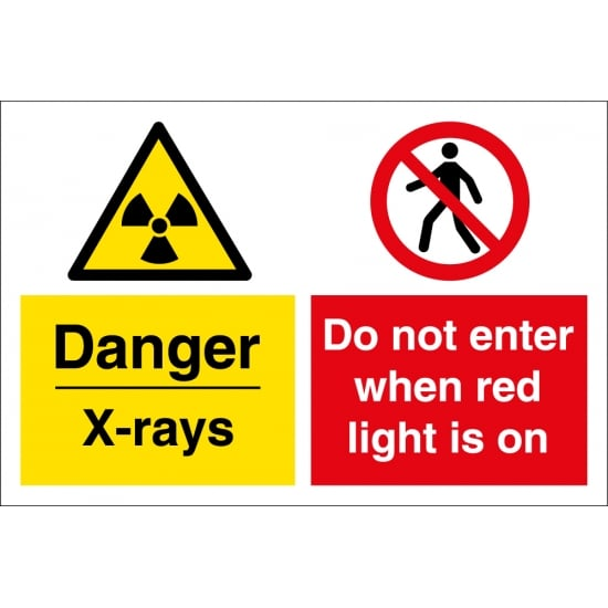 X Rays Do Not Enter When Red Light Is On Signs