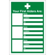 Your First Aiders Are Signs