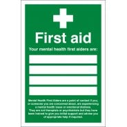 Your Mental Health First Aiders Signs
